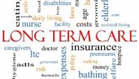 """Word cloud with """"Long Term Care"""" as the focus."""