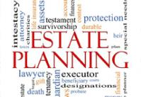 """Red words """"Estate Planning"""" in middle of related word cloud."""