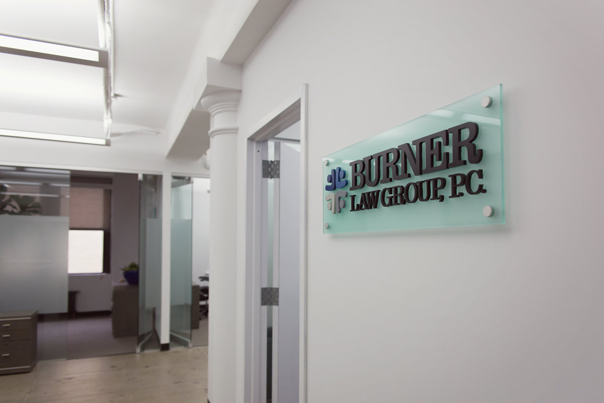 An image of the inside of Burner Law Group's New York City office.
